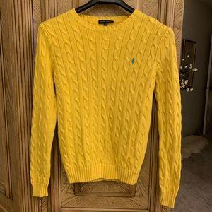 Ralph Lauren Sunny Yellow Crew neck Cotton Sweater